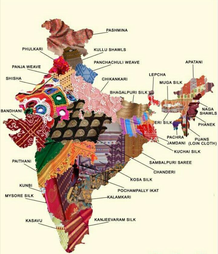 Mapa pakistanu z tkaninami