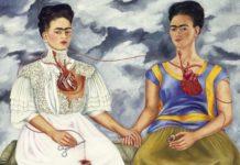 Obraz przedstawiajacy dwie kobiety trzymające się za ręce