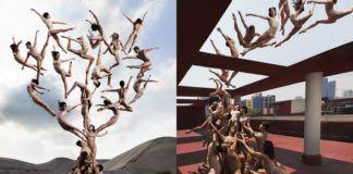 Tancerze w surrealistycznych pozach