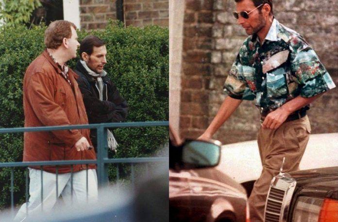 Dwa zdjęcia przedstawiające wychudzonego mężczyznę na mieście