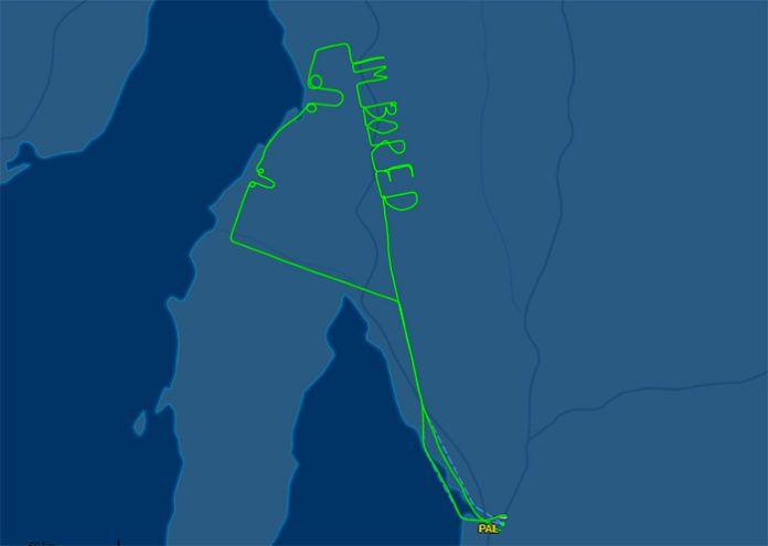 Trasa pilot w skanerze lotów