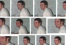 Dużo zdjęć przedstawiających chłopaka w białej koszulce