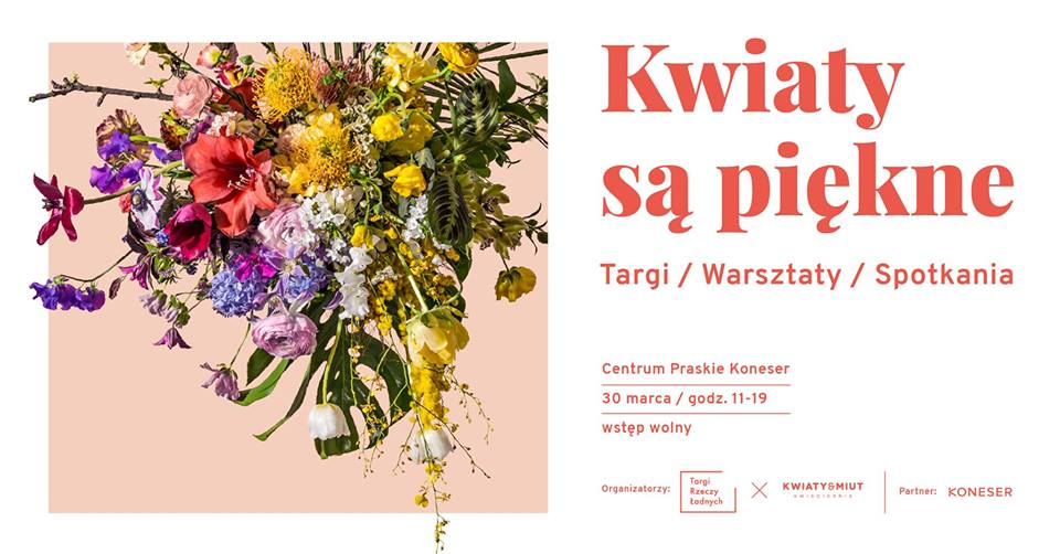 Plakat wydarzenia Kwiaty są piękne