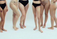 Nogi kobiet w majtkach