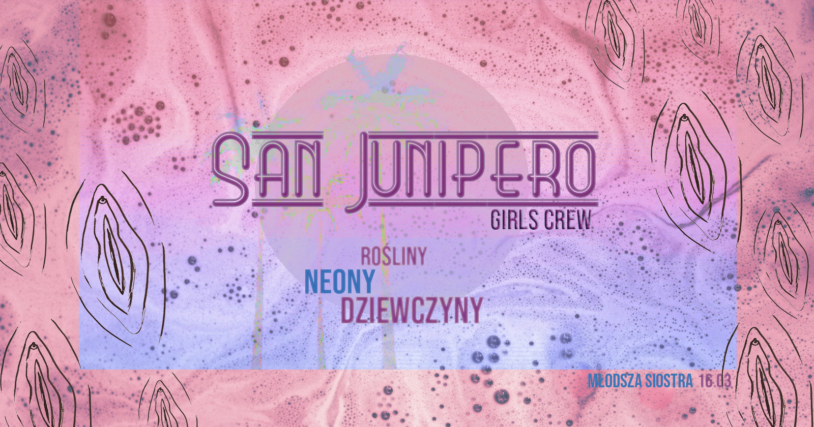 Plakat imprezy San Junipero