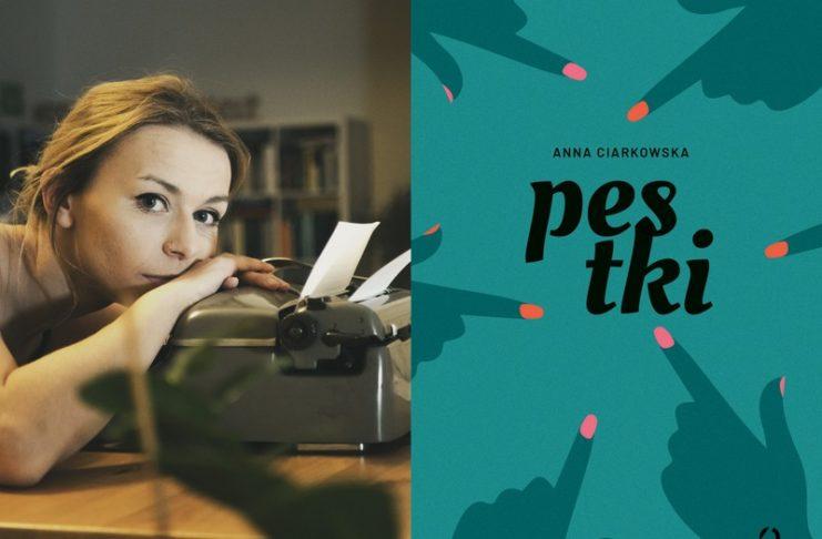 Dziewczyna z maszyną do pisania i okładka Pestek