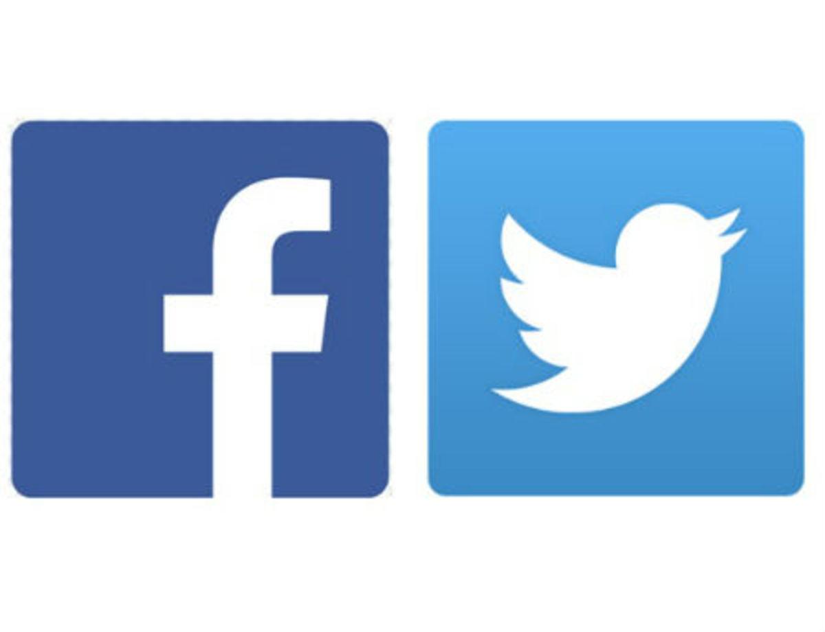 Logo facebooka i twittera