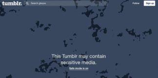 Zrzut ekranu ze strony Tumblr