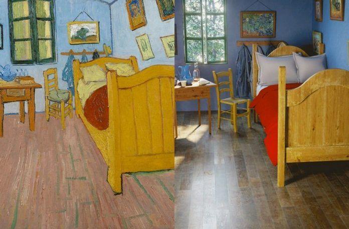 Pokój Van Gogha na obrazie i w rzeczywistości