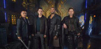 """Marc Bendavid i inni aktorzy w filmie """"Dark Matter"""""""
