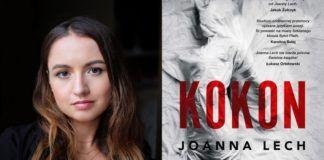 Portret dziewczyny i okładka książki Kokon