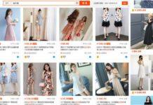 Zrzut ekranu ze strony z chińską modą