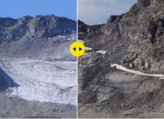 Zdjęcie przedstawiające Alpy ze śniegiem i bez