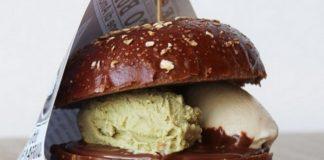 Burger z lodami w środku