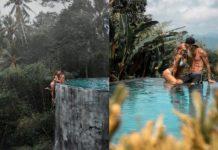 Dwa zdjęcia przedstawiające całującą się parę