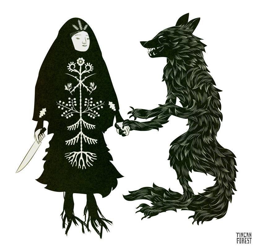 Czarownica z wilkiem