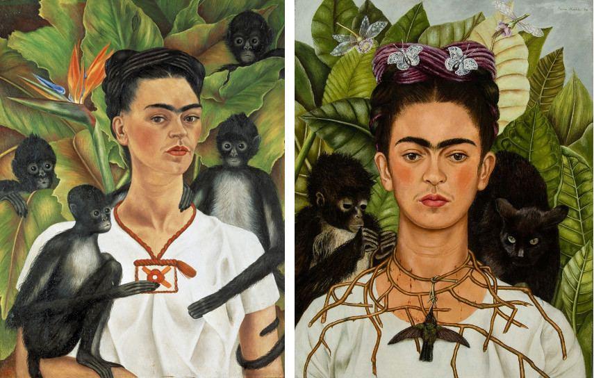 Dwa obrazy przedstawiające Fridę