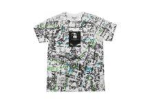 Koszulka z wzorem graffiti z napisami