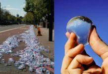 Plastikowe butelki i kapsułka z wodą
