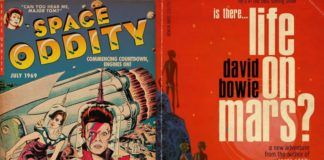 Dwie okładki przedstawiające Davida Bowiego