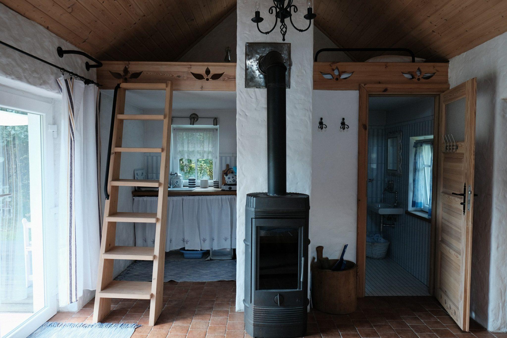 Drewniane wnętrze domu