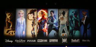 Ekran z filmami Disneya