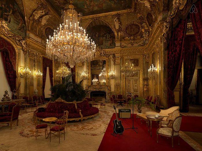 Złote wnętrze komnaty Napoleona