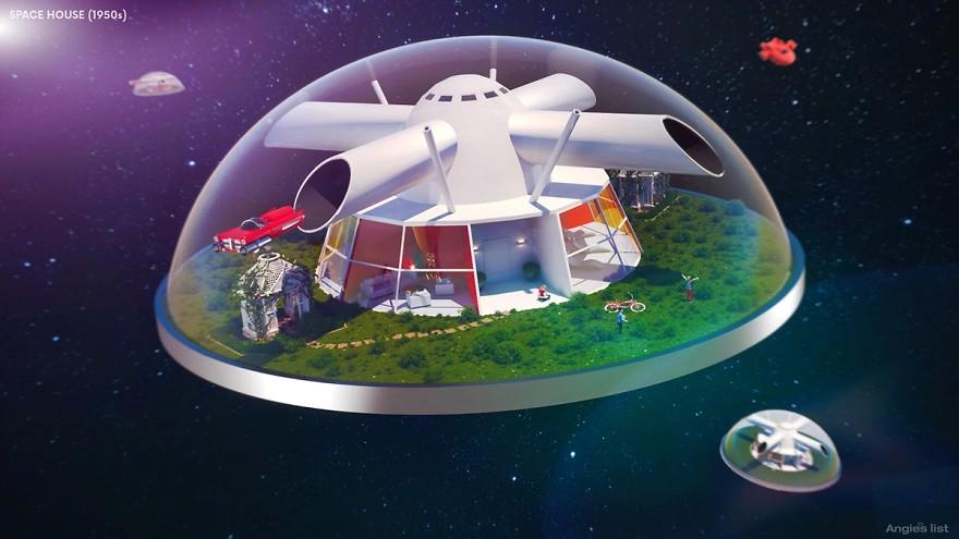 Kompleks mieszkany pod kopułą w kosmosie