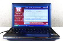 Komputer z wirusami na ekranie