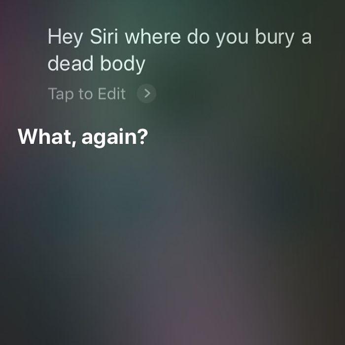 Pytanie do Siri: Gdzie pochować ciało?