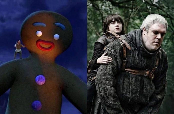 Kadr ze Shreka, a obok kadr z Gry o Tron