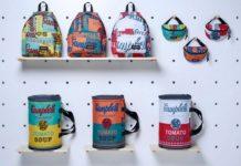 Plecaki, torby i nerki z puszką Andy'ego Warhola