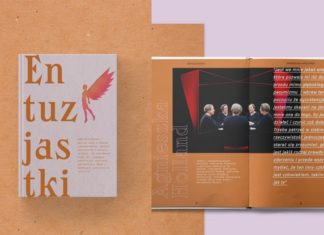 Okładka książki Entuzjastki i jej środek z Agnieszką Holland