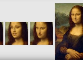 Ożywiony obraz Mony Lisy