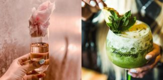 Dwa koktajle: różowy i zielony