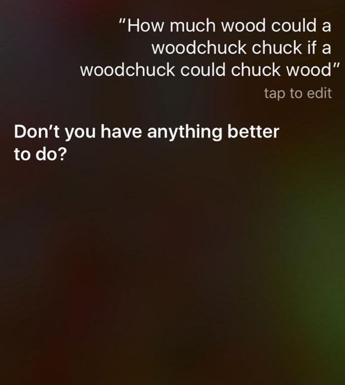 Ekran pytanie do Siri