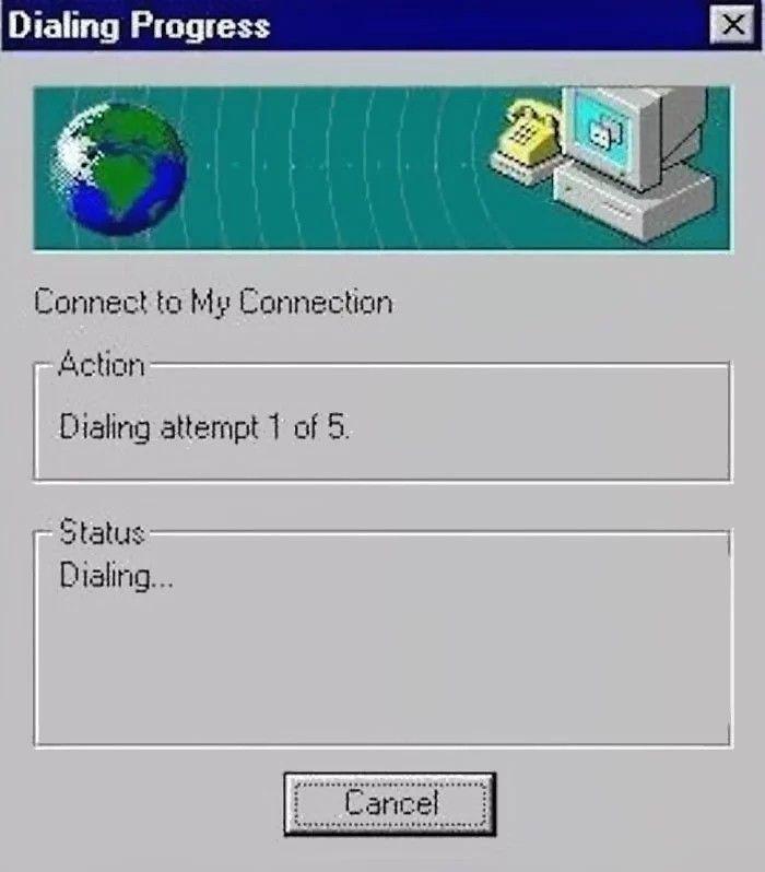 Ekran łączenia się z internetem