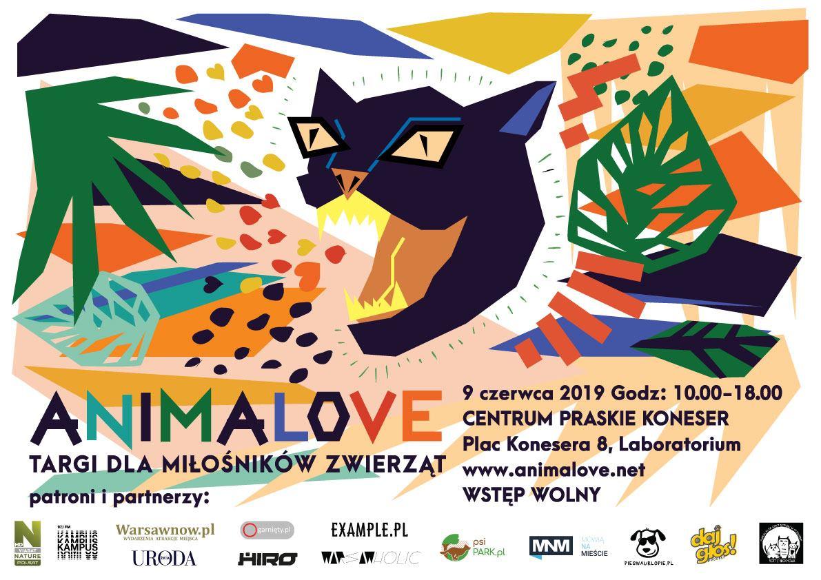 Plakat promujący wydarzenie Animalove