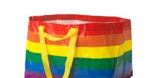 Tęczowa torba ze sklepu IKEA