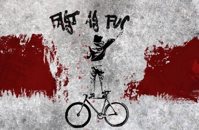 Grafika promująca premierę rowerów Warsaw Saints, Antymaterii i TFH