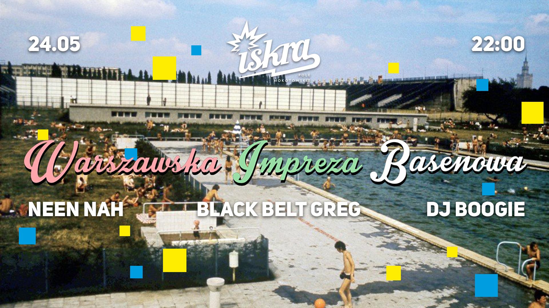 Plakat warszawskiej imprezy basenowej