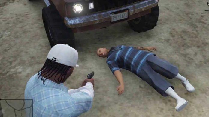 Scena z gry koputerowej przedstawiająca morderstwo