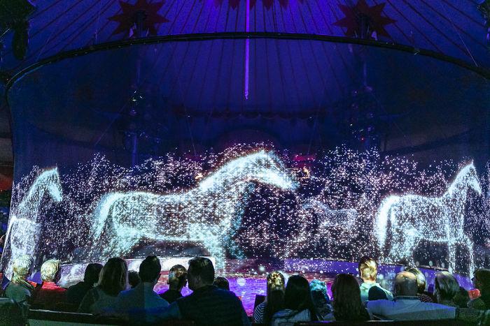 Konie w postaci hologramu