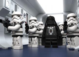 Scena z Gwieznych Wojen odtworzona przy pomocy klocków LEGO