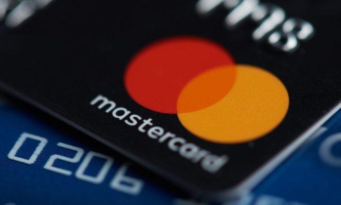 Karta płatnicza z logo Mastercard