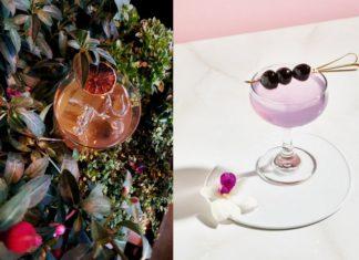 Zdjęcia przedstawiające dwa drinki