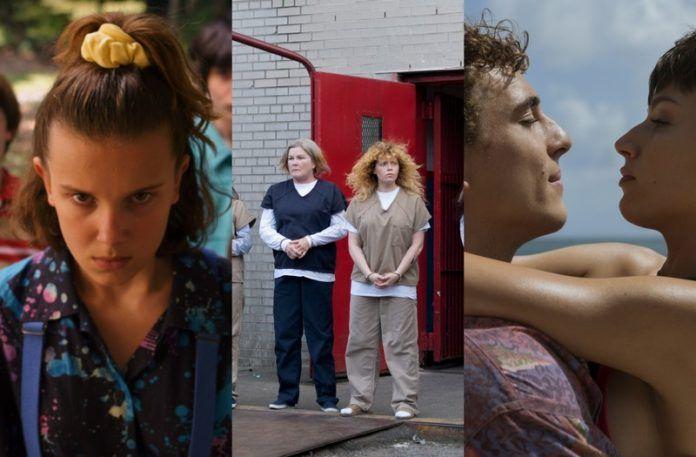 Trzy kadry z seriali Netflix