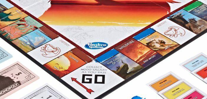 Plansza Monopoly z Krolem Lwem