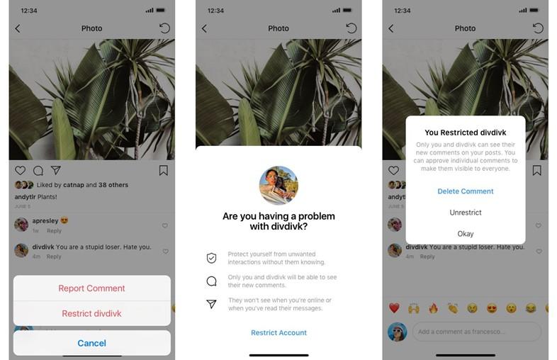Zrzuty ekranu z aplikacji Instagram