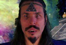 Psychodeliczna twarz mężczyzny